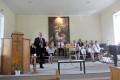 Gatavojoties Dziesmu svētkiem, ieskaņas dievkalpojums Mazsalacā 14. jūnijā.